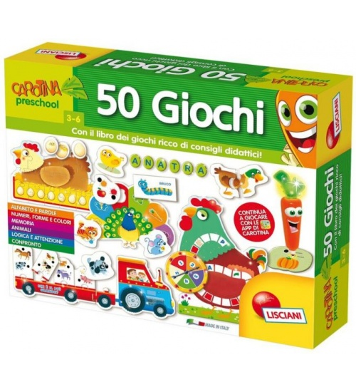Lisciani carotina preschoolpenna parlante 50 giochi