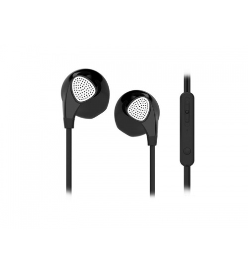 Auricolari c/microfono 3.5mm bk everyday smartphone/tablet adj