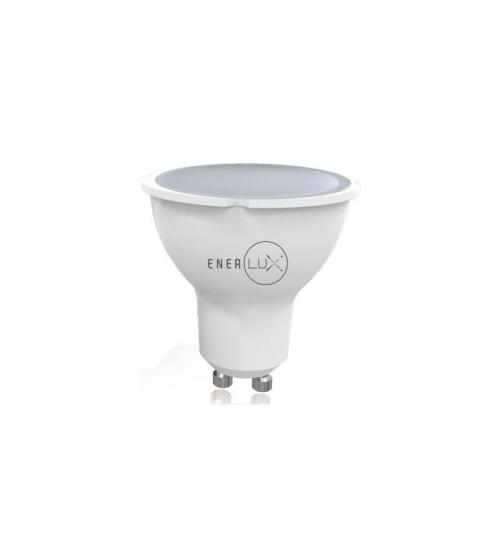 Lampadina led enerlux gu10 7w 2800k luce calda faretto lumen 550