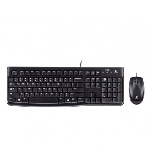 Tastiera mk120 log + mouse nera usb retail
