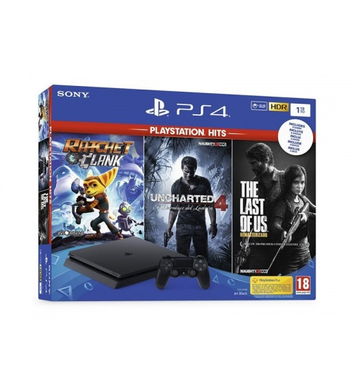 Sony playstation 4 1tb the last + uncharted 4 + ratchet & clank ps4