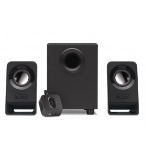 Casse logitech retail z213 7w rms 2x1,5w-satelliti + 1x4w-subwoofer 2.1 speaker con telecomando a cavo