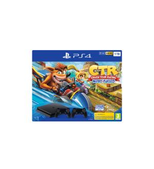 Sony playstation 4 1tb crash team racing + 2 ds4 controller ps4