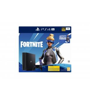 Sony playstation pro 1tb gamma blac k ps4 + fortnite