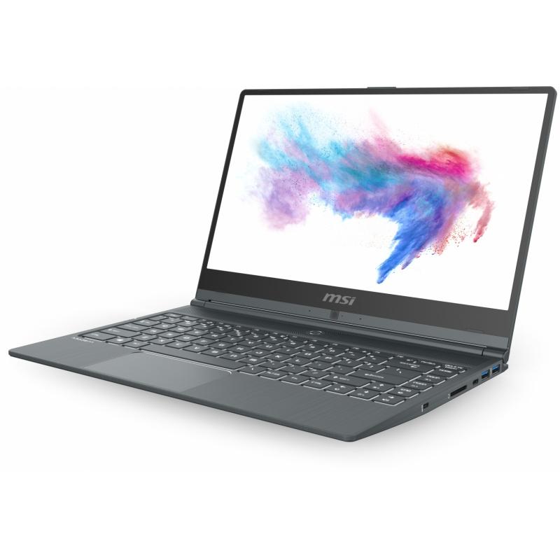 Notebook msi modern 14 a10m, no os,14fhd ips 60hz 72% ntcs thin bezel rgb,i5-10210u,8gb,256gb nvme ssd