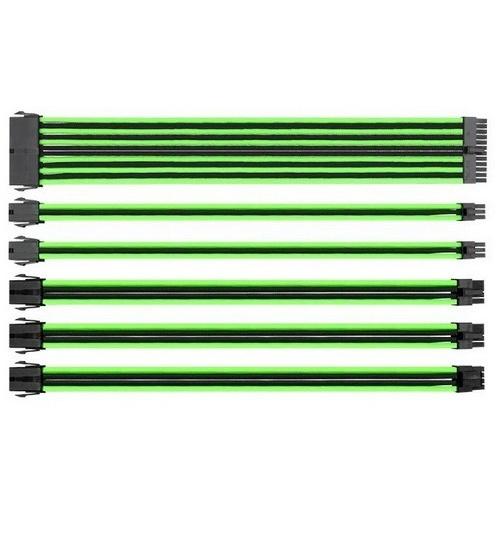 Thermaltake ttmod cavi sleeve modulari d`estensione per alimentatore atx nero e verde
