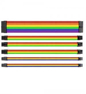 Thermaltake ttmod cavi sleeve modulari d`estensione per alimentatore atx multicolore rgb