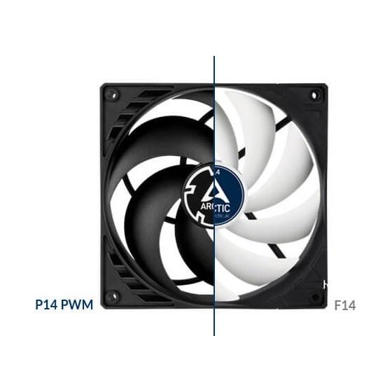 Arctic p14 pwm pressure optimised ventola da 140mm black