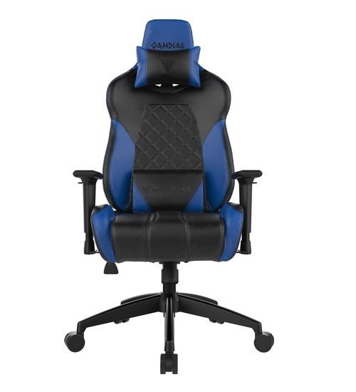 Gamdias sedie gaming achilles e1 nera / blue rgb comfort