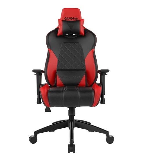 Gamdias sedie gaming achilles e1 nera / rossa rgb comfort