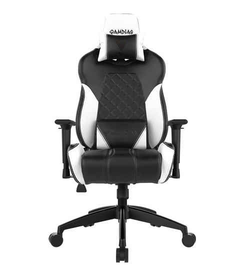 Gamdias sedie gaming achilles e1 nera / bianca rgb comfort