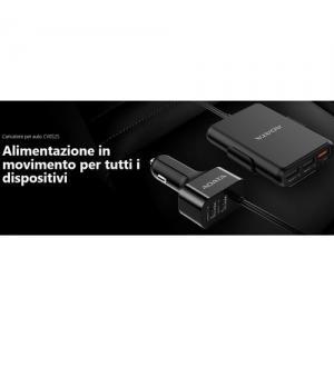 Adata cv0525 caricatore nero per auto 5 porte usb & ricarica veloce