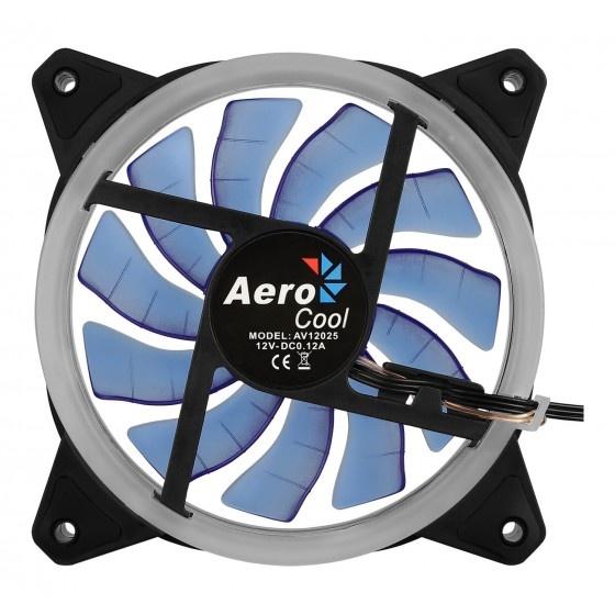 Aerocool rev blue ventola da 120mm con illuminazione ad anello dual led