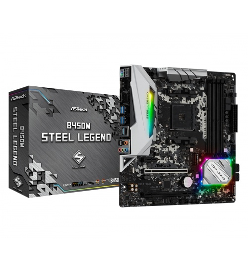 Scheda Madre asrock am4 b450m steel legend 4xddr4  hdmi dp matx