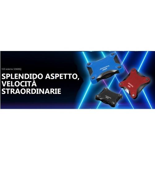 Adata ssd esterno usb asd600 nero 480gb veloce 3d nand flash asd600q-480gu3