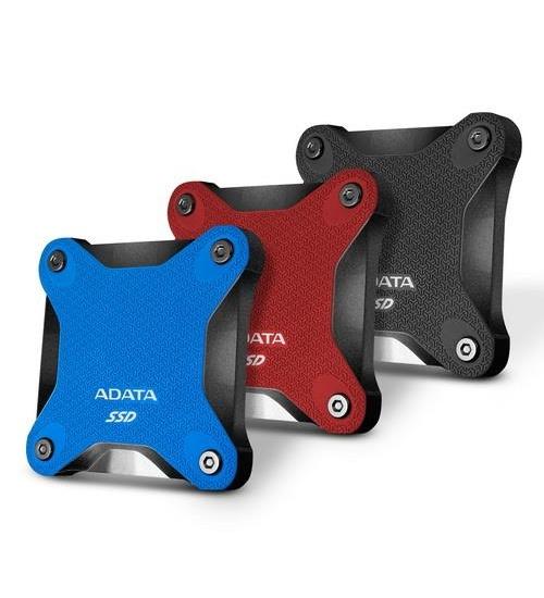 Adata ssd esterno usb asd600 rosso 480gb veloce 3d nand f. asd600q-480gu31-