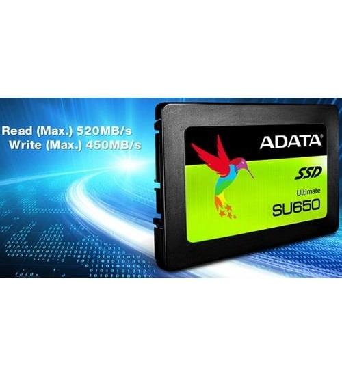 Adata ssd asu650ss 480gb 2.5`` nand flash 3d tlc 520/450mb/s