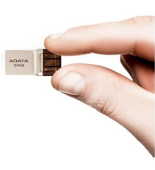 Flash disk adata otg 64gb auc360-64g-rgd (micro usb - usb 3.1)