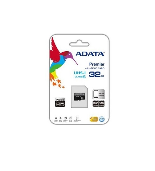 Sdhc adata micro premier 32gb (2in1) uhs-i cl10