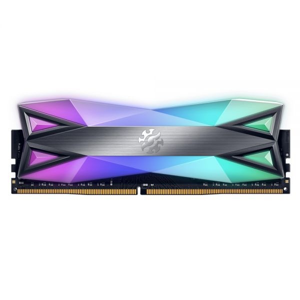 Ddr4 32gb 3600 mhz xpg spectrix d60 g 2x16gb cl18 dual rgb light strip