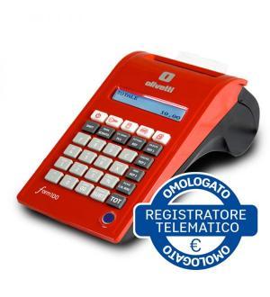 Registratore cassa olivetti form100 2disp 12rep trasmissione telematica