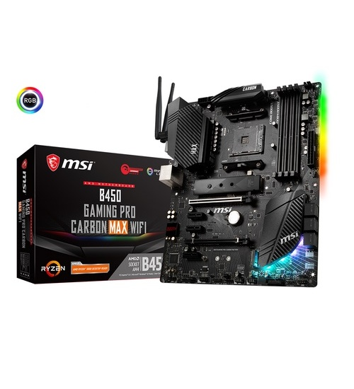 Scheda Madre msi b450 gaming pro carbon max wifi amd