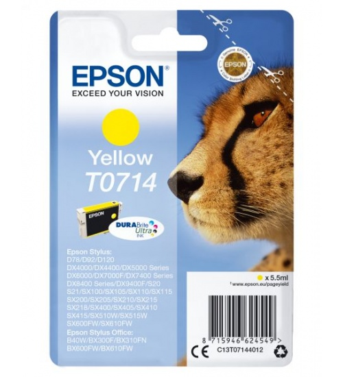 Ink epson yellow styl d78/dx4000/50