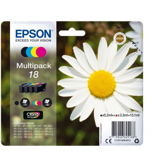 Ink epson 18 multipack nero + clr per expression home xp30