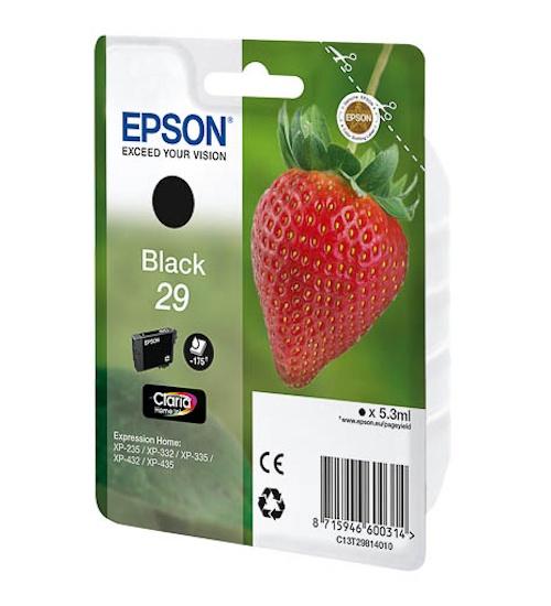 Cartuccia inkjet fragola t29 epson xp-235 - xp-332 - xp-335 - xp-432 - xp-435 black 5.3ml