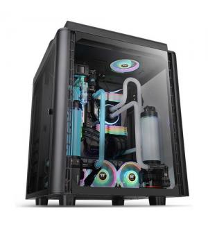 Thermaltake case mid.t level 20 ht black 4mm tg + 2 140mm fans
