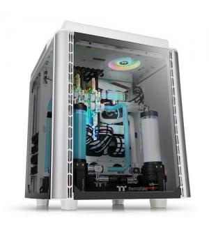 Thermaltake case mid.t level 20 ht snow 4mm tg + 2 140mm fans