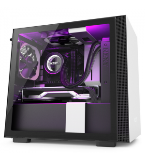 Nzxt gaming case h210i-w1 mini itx nero/bianco - 2*120 aer f + 1 led strip