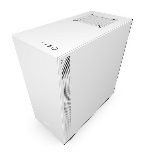 Nzxt gaming case h510i comp.mid t.nero/bianco -2*120 aer f-2*led s.-f.ctrl