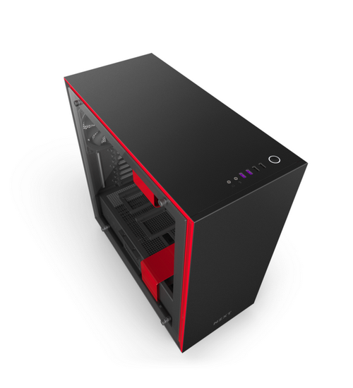 Nzxt gaming case h700i mid tower  nero/rosso ca-h700w-br