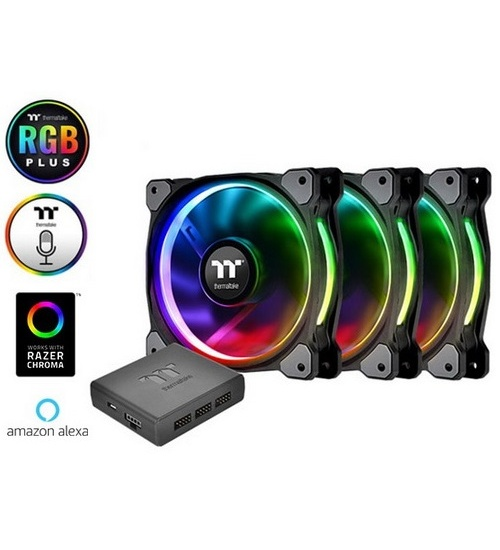 Thermaltake ventola case riing plus 12 led rgb  radiator (3 fan pack)