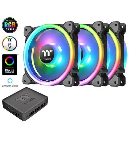 Thermaltake ventola case riing trio 14 rgb fan kit radiator fan tt premium
