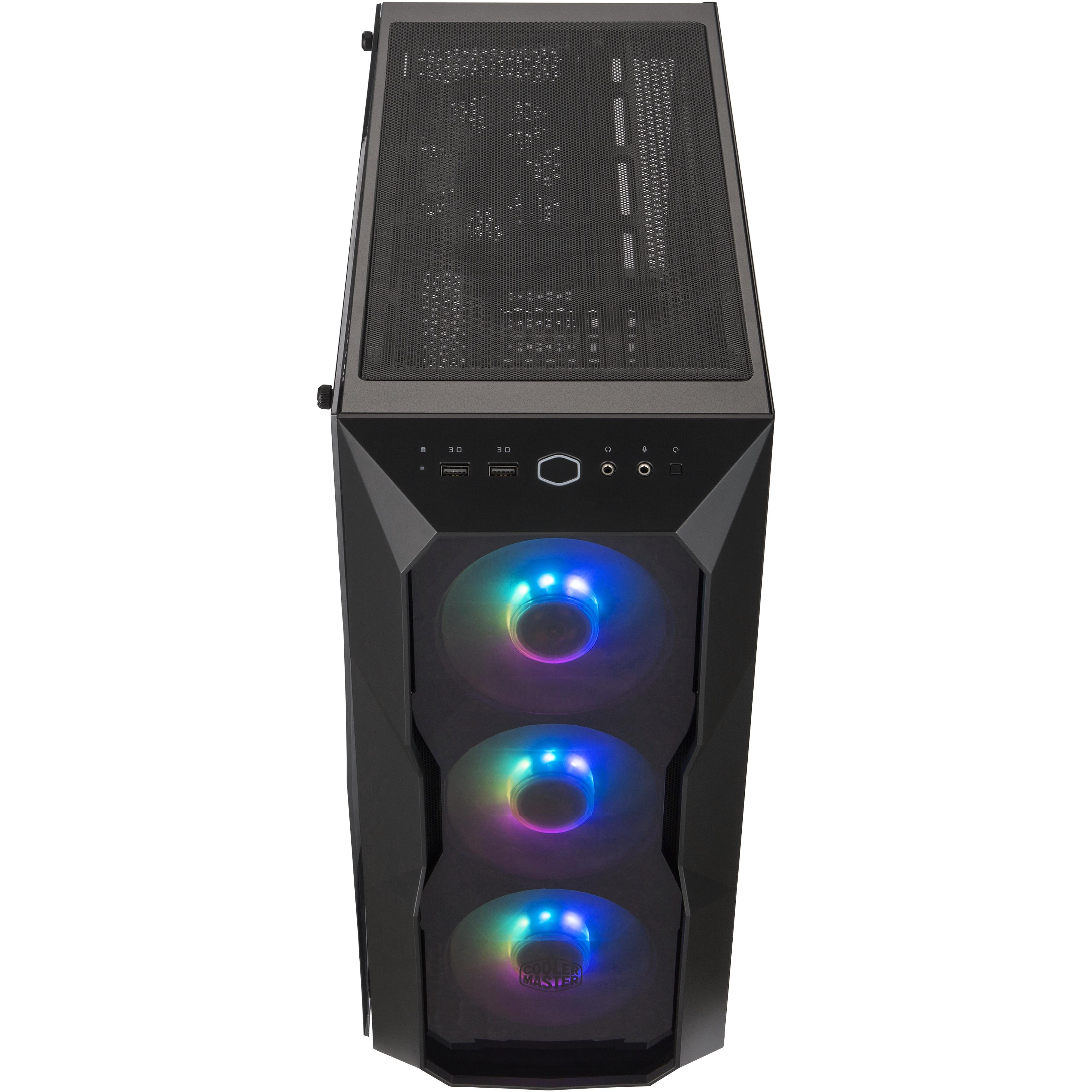 Case masterbox td500 acrylic argb, 2usb3,2xcombo 2.5/3.5,4x2.5,3x120mm argb fr.fans+120mm r.fan,rad. supp.,controller,no psu