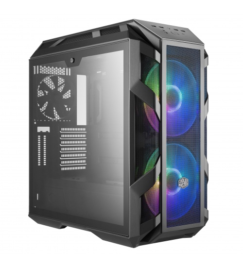 Case mastercase h500m, 2usb3,audio i&o,2x 2.5/3.5,2x 2.5,2x 200mm rgb front fans 140mm rear fan,radiator supp.,no psu