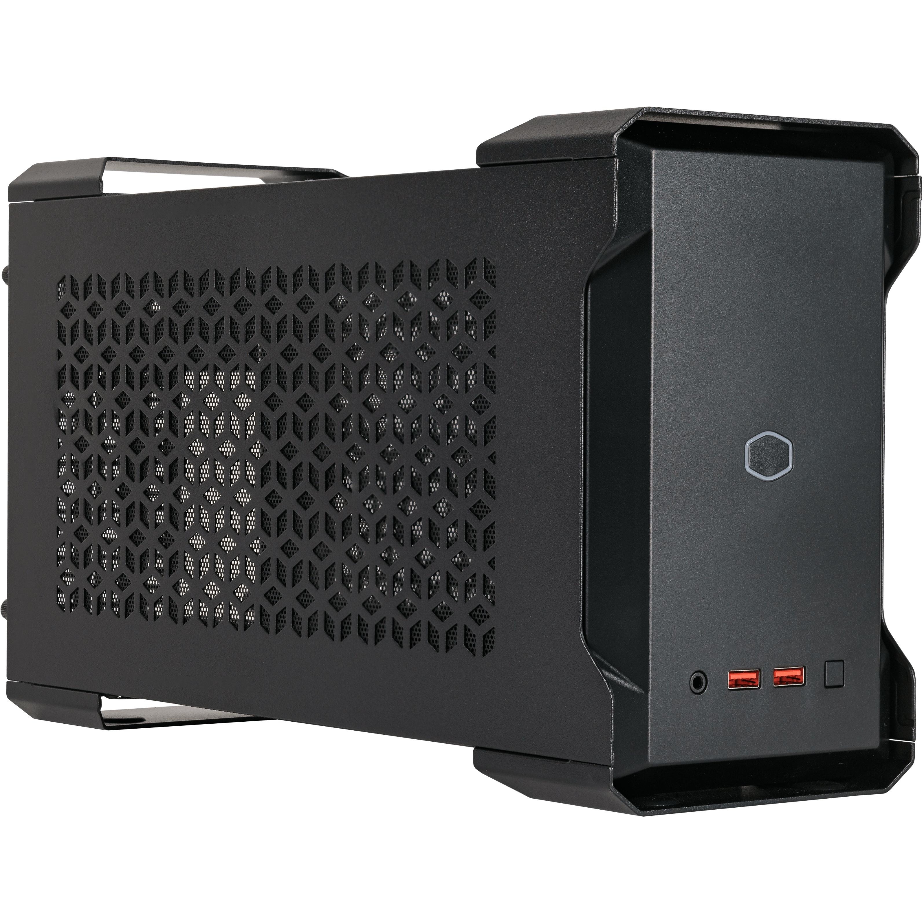 Mastercase nc100 black, intel nuc 9 extreme compute element compatible,con psu v gold sfx 650w,ultra compatto,argb controller