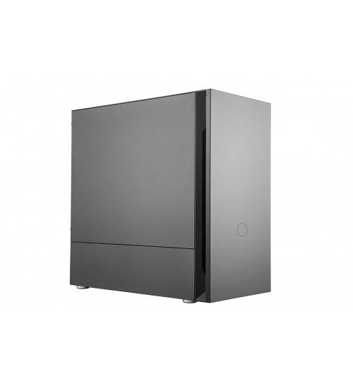 Case silencio s400, 2usb3,3.5mm headset jack (audio+mic),sd card reader,120mm front fan 120mm rear fan,radiator support, no psu