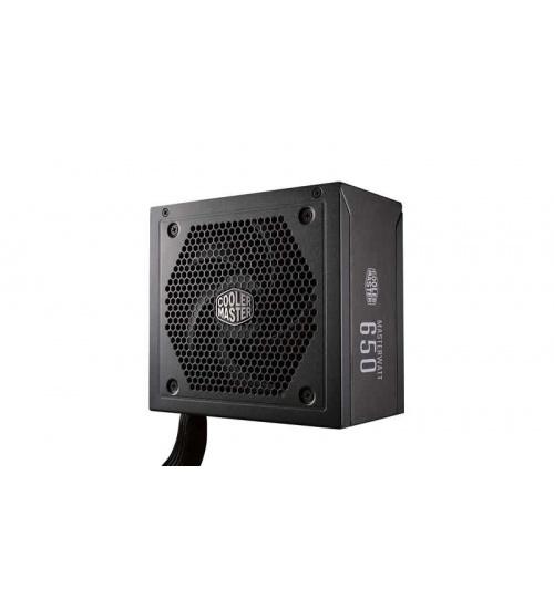 Alimentatore masterwatt 650w - 80plus bronze, active pfc, silent 120mm ldb fan, semi modulare