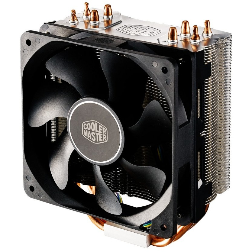 Ventola hyper 212x, tower, 120mm 600-1700rpm pwm fan, 4 x 6mm cdc heatpipes, full socket support