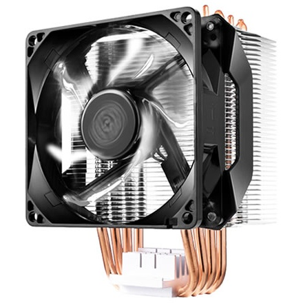 Ventola hyper 411r universal incl. lga 2066, 4x 6mm heat pipes, 92mm pwm fan, 600-2000 rpm pwm, white led fan
