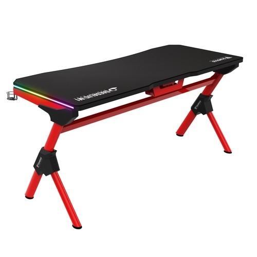 Gamdias gaming desk daedalus m1 br nera & rossa 2xrgb 150x66cm waterproof