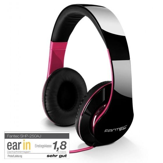 Fantec shp-250aj-wt cuffie audio black pink