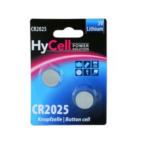 Ansmann hycell batteria primaria a bottone litio formato cr 2025 da 3v, confezione da 2 pezzi