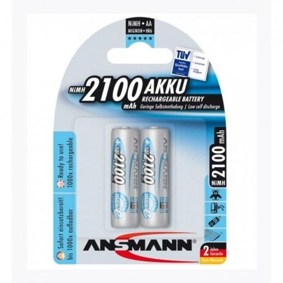 Ansmann maxe batteria ricaricabile nimh, formato stilo (aa), confezione da 2 pezzi