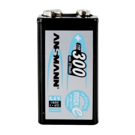 Ansmann maxe batteria ricaricabile nimh, formato block (e)  1 pezzo.