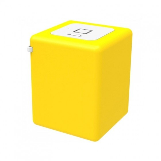Inline mini speaker portatile 8w- giallo- batteria ricaricabile, bluetooth 3.0