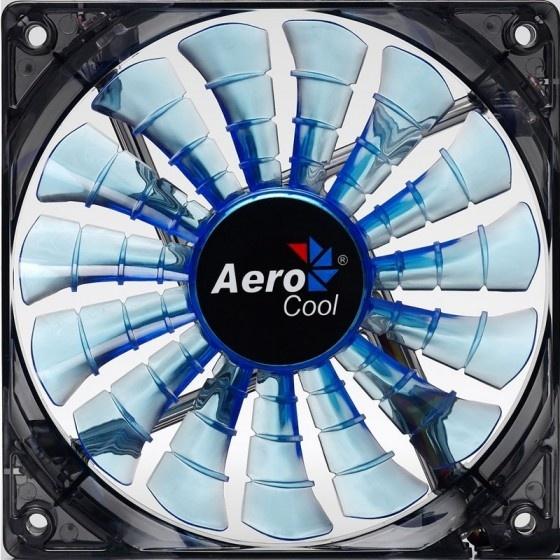 Aerocool shark ventola da 120mm a 1500giri blue edition - bulk